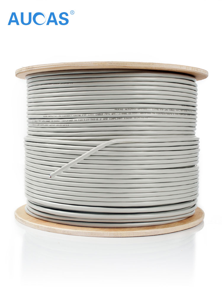 AUCAS Network Ethernet CAT6 Cable FTP Ethernet Network Cable Shielded Lan Cable Cat6 10m 20m 30m