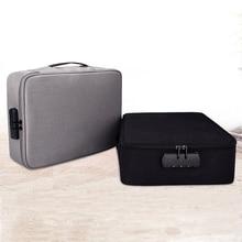 Multi-layer Document Storage Box Handbag Men And Women Waterproof Travel Briefcase Business Notebook Bag