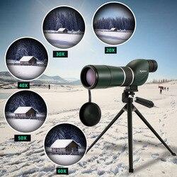 20-60x60 Spotting Scope Monocular Telescópio com Tripé de Viagem Portátil Carry Case Birdwatch Caça Monocular
