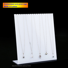 Multi - Necklace Acrylic Necklace Display Stand Necklace Holder Pendant Showing Rack Jewelry Organiz