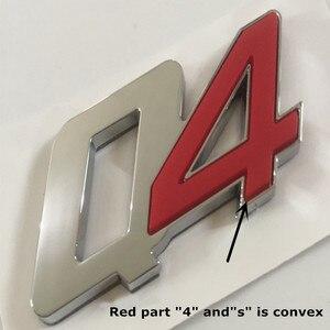 Image 2 - Gts q4 sq4 emblema emblema para maserati quattroporte ghibli levante tronco adesivo estilo do carro remontagem da cauda logotipo