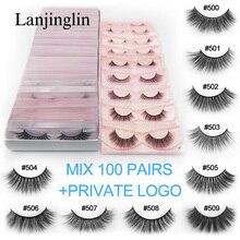ขายส่งจำนวนมากขนตาปลอม20/30/40/50/100คู่ธรรมชาติยาวขนตาปลอมExtension Fluffy 3d Faux lashesความโหดร้าย100% ฟรี