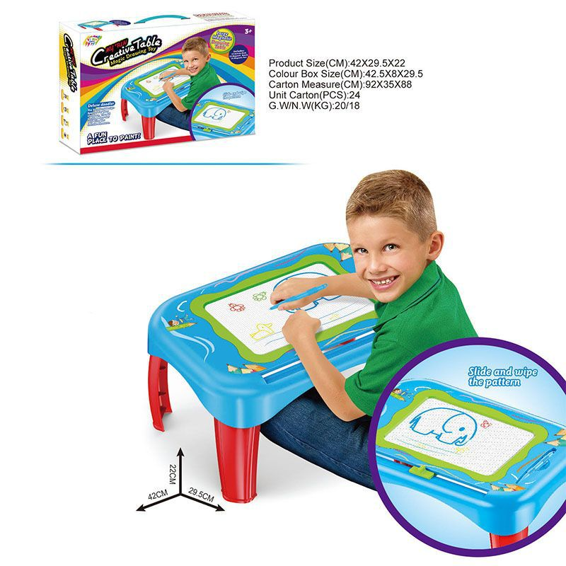 Hot Sales Educational ENLIGHTEN Magnetic Study Table Multi-functional Hui Hua Zhuo Children Writing Desk Education Toy