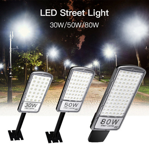 LED Street Light 30W 50W 80W IP67 Waterproof Super Bright Floodlight Lamp for Street Garden Path Courtyard Light
