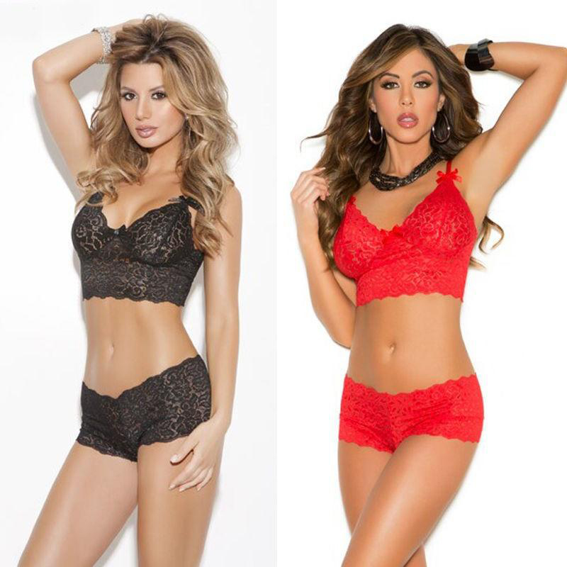 New underwear bra set European and American style sexy lace sexy underwear sling three-point wrapped chest lace bra set