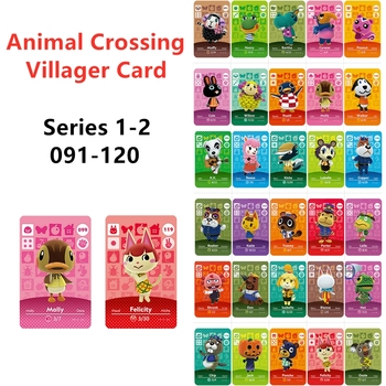 (091-120) Animal Crossing Villager Card Muffy Roald Felicity Molly NFC Game Cards Data Collection NS Switch Wii U image