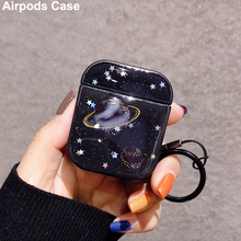 For Airpods Case Silicone Starry Sky Drop Glue Cover for Apple Airpods Cases Cute Earphone Headphone