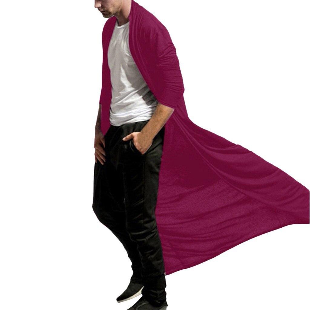Fashion steampunk Men Cardigans 2020 Autumn Casual Slim Long streetwear Shirt trench Long Coat Outerwear Plus Size free shiping