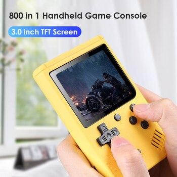 2020 Новинка 800 в 1 Ретро видео игровая консоль портативная Карманная игровая консоль Мини Ручной плеер для детей подарок игроку