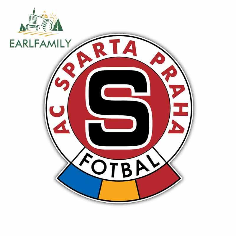 EARLFAMILY 13cm X 11.5cm For AC Sparta Praha Czech Football Logo Car Stickers Vinyl JDM Bumper Trunk Truck Graphics Fine Decal