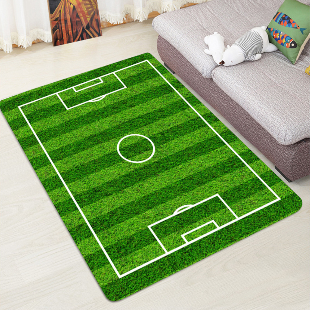 Creative Football Field Pattern Carpet For Living Room Doormat Anti-Slip Floor Mat Baby Nursery Rug Children Carpet