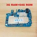 Desbloqueado placa principal 64 gb placa-mãe mainboard com chips circuitos cabo flexível para xiaomi mi 5S mi5s m5s 3 gb e 64 gb
