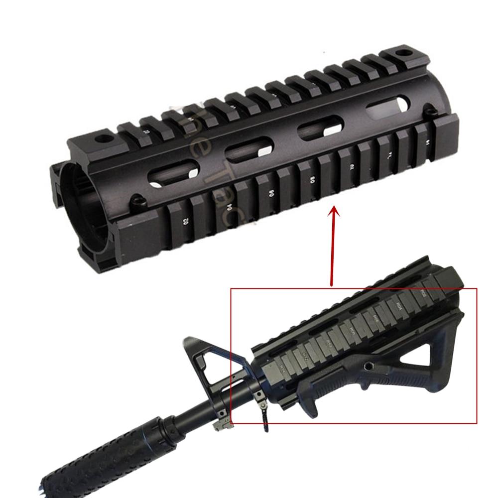 6.7 inch Airsoft AR-15 M4 RIS drop-in Quad Rail Mount AR15 Carbine Handguard Float Picatinny Handguard hunting gun accessories(China)