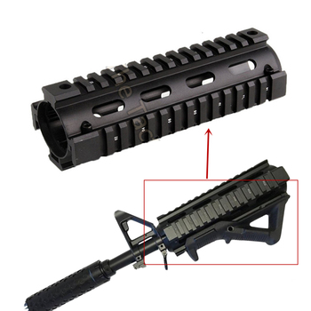 6.7 inch Airsoft AR-15 M4 RIS drop-in Quad Rail Mount AR15 Carbine Handguard Float Picatinny Handguard hunting gun accessories free shipping 12pcs cover ak47 ak74 tactical quad rails hunting handguard rail shooting ris quad rail mount accessories