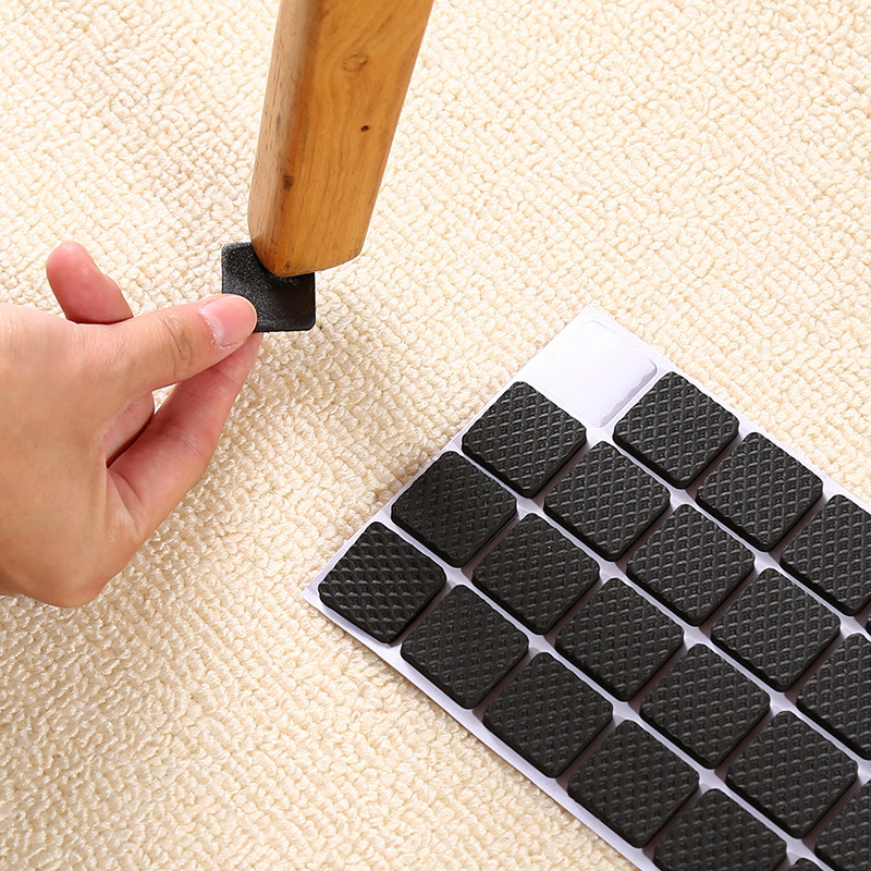 2/48pcs Non-Slip Table Foot Cushion Chair Foot Cushion Mute Wear-Resisting Furniture Table Chair Stool Chair Cushion Bed