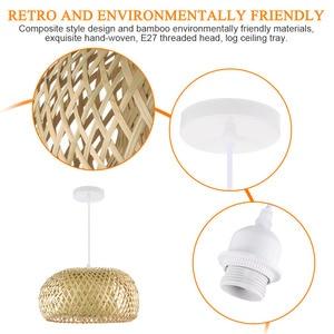 Image 5 - Nordic Ratta Lamp Handmade Pendant Lamp Bamboo Chandelier Retro Garden Restaurant Cafe Bar Lounge Lighting Decorative Lamp