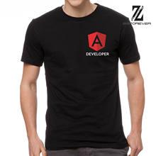Desenvolvedor angular camisa preta t 100 algodão