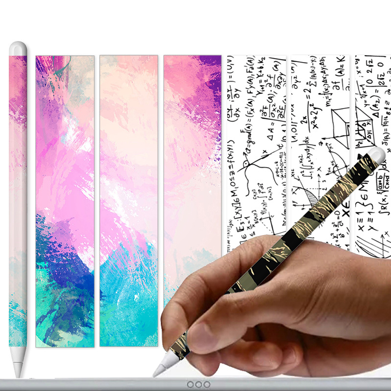 Cute For Apple Pencil 2 Stickers Scratchproof Ultra Thin Painted Sticker Skin Touch Stylus Pen Sticker Non-Slip Protective Paper