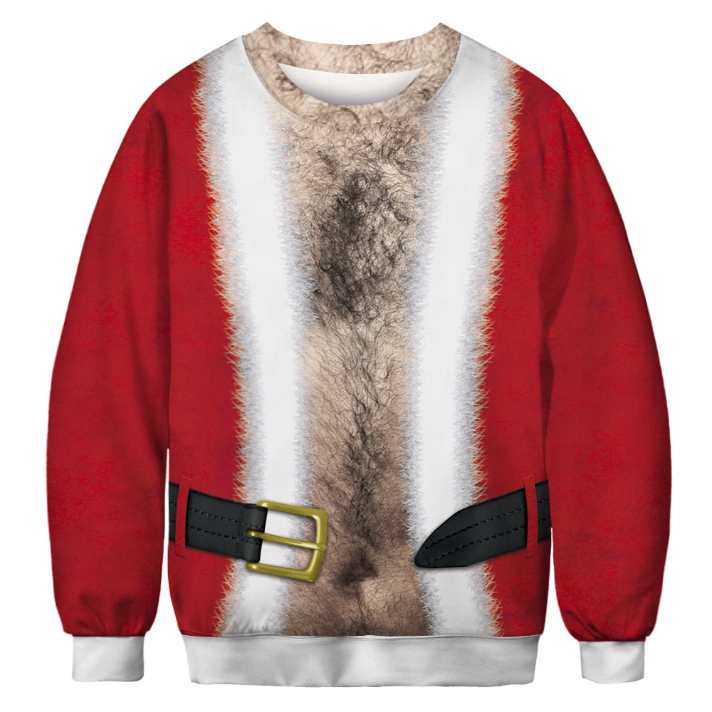 New Funny Ugly Christmas Sweater Unisex Men Women  Elk Pullover Pussycat Sweaters Jumpers Tops Novelty Autumn Winter Clothing