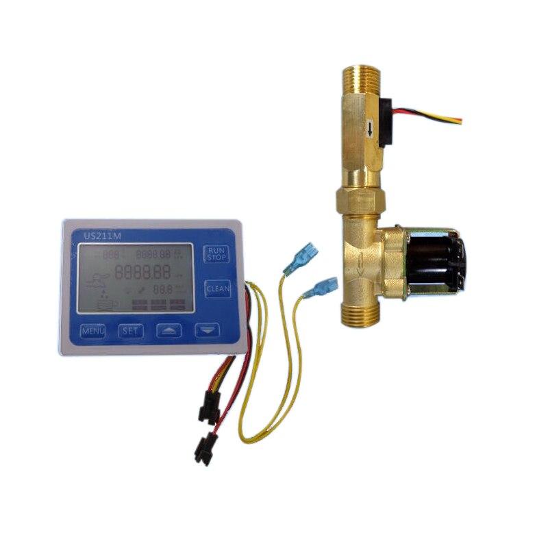Aletler'ten Su saatleri'de BMBY Us211M C21Tx Dozaj Makinesi Kantitatif Kontrol Su Akış Ölçer Sensörü Okuyucu Usc Hs21Tx 1 30L/Min 24V Ekran  title=
