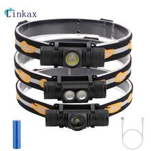 3800LM XM-L2 LED Headlamp  6 Modes USB Rechargeable Flashlight 18650 Battery Headlamp For Camping Fishing Hunting Light led flashlight tourch 10w xml l2 led usb flashlight handheld bracket light 3 modes for drilling camping hunting night fishing