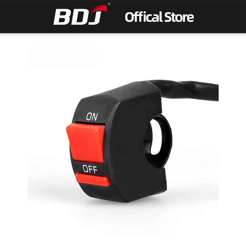 BDJ Free Shipping Universal Motorcycle Switches Motor Switch ON OFF Button Headlight Switch Universal