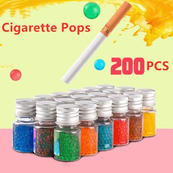 200 100 sztuk papierosów wyskakuje koraliki owoce kawy miętowy smak uchwyt papierosów akcesoria do palenia szklana butelka filtr papierosowy tanie i dobre opinie CN (pochodzenie) MZL777