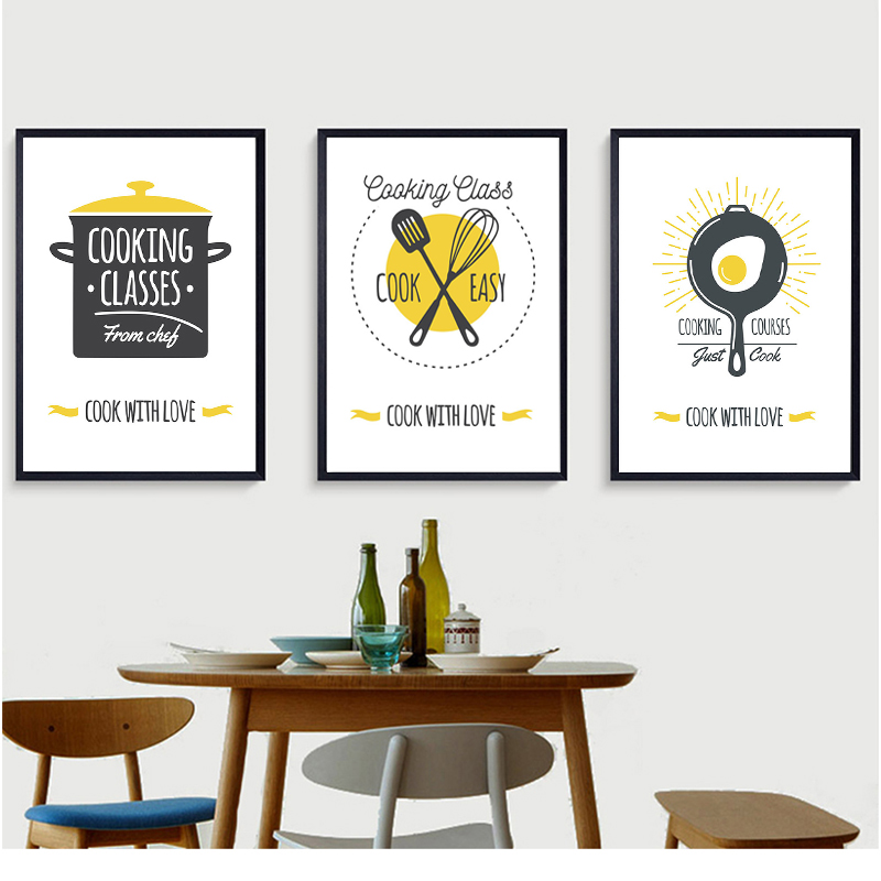 Modern Minimalist Kitchen Ware Canvas Painting Wall Art Lovely Quotes Posters And Prints Dining Room Decor Picture Painting Calligraphy Aliexpress