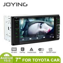 """JOYING 7 """"اللمس شاشة الروبوت 10 السيارات 2 الدين سيارة راديو ستيريو Autoradio رئيس وحدة GPS الوسائط المتعددة لتويوتا سيارة 4GB 64GB Carplay"""