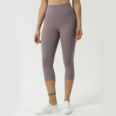 Pantalones De Fitness Para Mujer De Color Piel Ajustados Para Gimnasio Elastizados Sin Lineas Bochornosas Pantalones De Yoga Para Correr En Siete Puntos Pantalones De Yoga Aliexpress