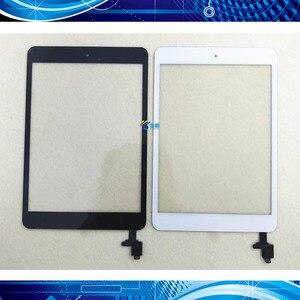 1Pcs For iPad Mini 1 Mini 2 A1432 A1454 A1455 A1489 A1490 A149 Touch Screen Digitizer Sensor+IC Chip Connector Flex+Key Button(China)