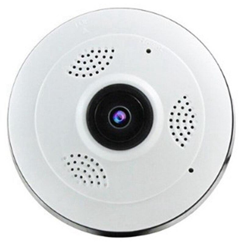 360 degrés panoramique grand Angle Mini caméra Cctv 1080P Hd sans fil intelligent caméra Ip Fisheye sécurité à domicile V380 Wifi caméra (Eu Plu