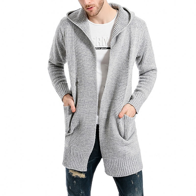 Brand Autumn Winter Fashion Casual Cardigan Sweater Coat Men Loose Fit Warm Knitting Clothes Sweater Coats Male Single Button