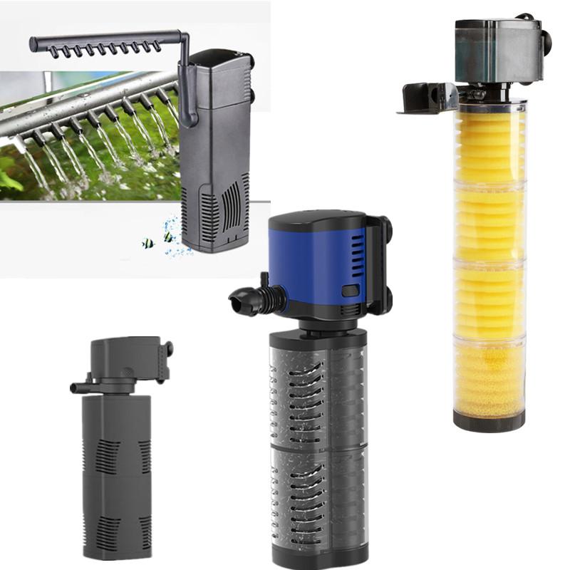 3 in 1 Aquarium Filter Fish Tank Filter For aquarium Air Pump Air Oxygen Increase Aquarium Internal Filter Aquarium Pump