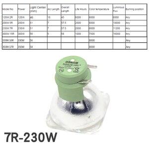 Image 4 - Spedizione gratuita Sharpy Fascio di Luce 230W MSD 7R In Movimento Posto Testa di Lavaggio, Palcoscenico Lampada 7R 230W