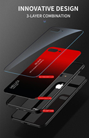 silicone case 11 Pro Max 6 7 8 Plus X XS XR Luxury Phone Case For iPhone Gradient Tempered Glass Protective Case Hard Back Soft Silicone Cover (4)