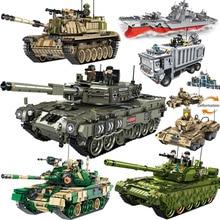 Askeri teknik ordu alman tankı kamyon yapı taşları setleri WW2 askerleri uyumlu DIY tuğla setleri çocuk hediye oyuncak
