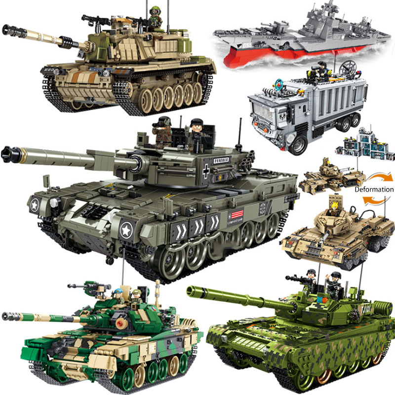 Military Technic Army German Tank Truck Building Blocks Sets WW2 Soldiers Compatible Legoingly DIY Bricks Sets Children Gift Toy