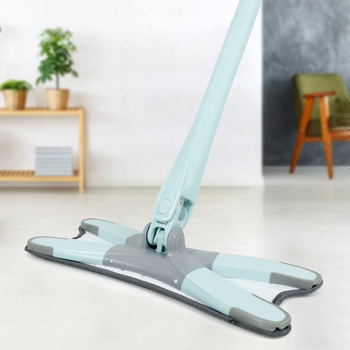 Congis Manual Hand Wash Free Flat Floor Mops For House Cleaning X Type Mop With Microfiber Pads Kitchen Cleaning Tools