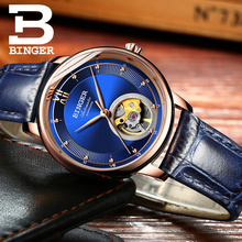 BINGER luxury luxury mechanical watch, sapphire mirror, ladies watch with automatic movement Seiko 9015 cadisen men automatic mechanical watch top luxury brand seiko nh35a movement stainless steel 50m waterproof curved glass watch