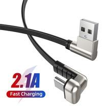 U-Shape USB Type C Cable 2.1A Fast Charg