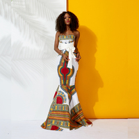 African Dresses for Women Maxi dresses Traditional dashiki dresses african fashion Fishtail dress african wedding dresses