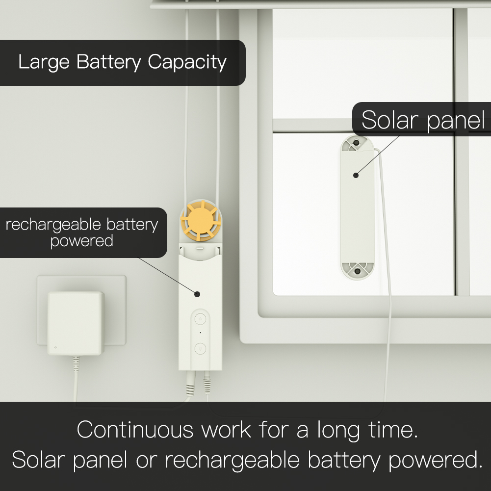 Top SaleShade Charger Chain-Roller Shutter-Drive Blinds Motor-Powered Solar-Panel App-Control