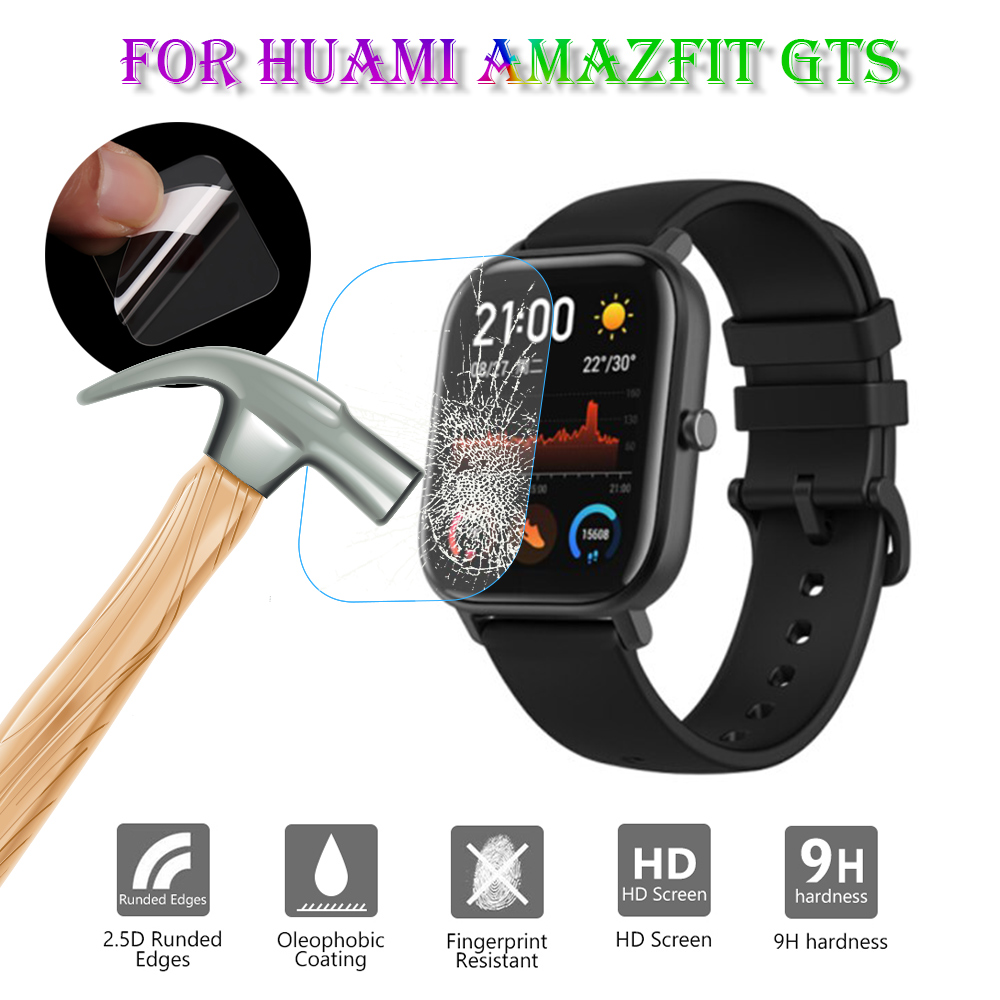 New 1Pcs Smartwatch Tempered Glass Protective Film Guard For Huami Amazfit GTS Smart Watch Toughened Display Screen Protector