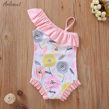 Stroje kąpielowe dla dzieci dzieci maluch dzieci dziewczynek kwiat strój kąpielowy bikini strój kąpielowy kostiumy kąpielowe ubrania moda 2020 nowy tanie i dobre opinie ARLONEET CN (pochodzenie) Kobiet 13-24m 25-36m 3-6y Poliester Pasuje prawda na wymiar weź swój normalny rozmiar Drukuj
