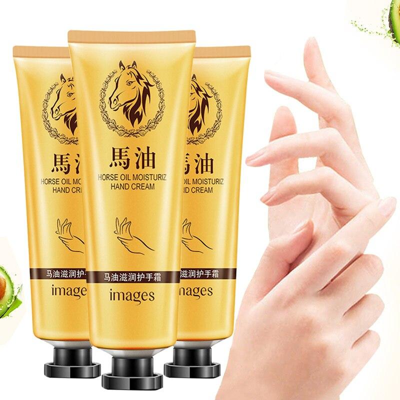 Hot Sale Horse Oil Repair Hand Cream Anti-Aging Soft Whitening Hand Cream Moisturizing Feeding Hand Care Lotion Cream 30g TSLM1