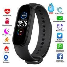 M5 relógio inteligente das mulheres dos homens monitor de freqüência cardíaca pressão arterial rastreador de fitness smartwatch banda esporte relógio para ios android fitness