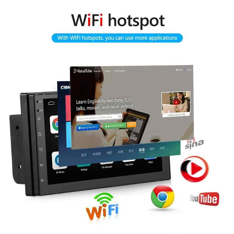 9218 Nâng Cấp 2 DIN Android 9.1 Đài Phát Thanh Đôi Dàn Âm Thanh Xe Hơi Dẫn Đường GPS Bluetooth Wifi USB Đài Phát Thanh Đầu Đơn Vị Lái Xe màn Hình Hiển Thị Tốc Độ