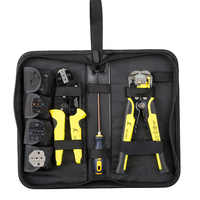 Professional multitool 4 In 1 Wire Crimpers Engineering Ratcheting Terminal Crimping Pliers wire stripper Tools Set Hand Tools