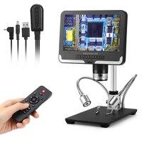 Andonstar-microscopio Digital caliente, lentes largas para soldadura AD206 con pantalla LCD AD206, negro y blanco, 1080P, herramientas de soldadura
